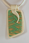 Polymer Jewelry - Green Transparency by P Russell