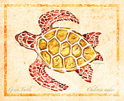 Green Sea Turtle Mixed Media - Green Turtle for Study by William Depaula