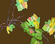 Blooming Digital Art - Green Vines by Ursula Freer