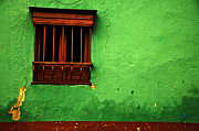 Colonial Architecture Photos - Green Wall by Jess Kraft