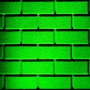 Green Wall Print by Semmick Photo
