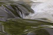 White River Framed Prints - Green Water Flow 2 Framed Print by Heiko Koehrer-Wagner