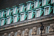 Rooftop Prints - Green Windows Print by Christi Kraft