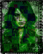 Green Monster Prints - Green With Envy Print by Absinthe Art By Michelle LeAnn Scott