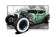 Model A Digital Art Posters - Green with Envy Poster by Chad Poore