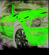 Mustang Mixed Media - Green with Envy by Michael Knight