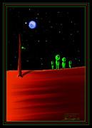 Green With Envy - Scratch Art Series - #5 Print by Steven Lebron Langston