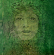 Woman Of The Forest Framed Prints - Green Woman  Framed Print by Sacred  Muse