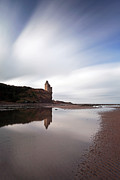 Sand Castles Metal Prints - Greenan Castle Metal Print by Grant Glendinning