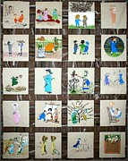 Children Tapestries - Textiles - Greenaway Magic by Linda Egland