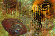 Green Digital Art Metal Prints - Greenbay Packers Metal Print by Jack Zulli