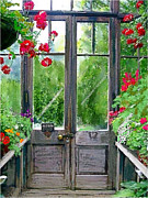 Rainy Day Mixed Media - Greenhouse door by Craig Nelson