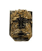 Man Ceramics Metal Prints - Greenman 2 Metal Print by John Keasler