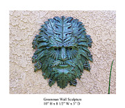 Leaf Reliefs - Greenman Wall Sculpture by Karl Sanders