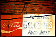 Coca-cola Sign Art - Greens Grocery by Brandon Addis