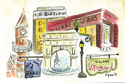 Greenwich Village Paintings - Greenwich Village Collage by Lynn Lieberman
