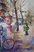 Greenwich Village Paintings - Greenwich Village by Susan Zavadil