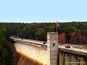 Greers Ferry Lake Posters - Greers ferry Dam Poster by Kim Loftis