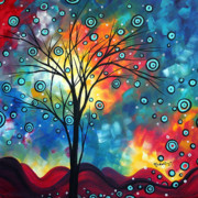 Tree Art Paintings - Greeting the Dawn by MADART by Megan Duncanson
