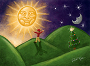 Pagan Prints - Greeting The New Sun Print by David Kyte