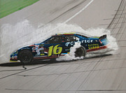 Tire Mixed Media Originals - Greg Biffle Wins by Paul Kuras