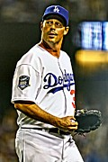 Greg Maddux Framed Prints - Greg Maddux Painting Framed Print by Florian Rodarte