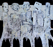 Faces Mixed Media Prints - GREGO No.1 Print by Mark M  Mellon