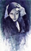 Greta Garbo Print by Yuriy  Shevchuk