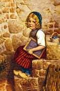 Little Boy Framed Prints - Gretel Brothers Grimm Framed Print by Wilhelm Kaulbach