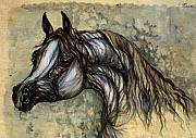 Horse Drawings - Grey In The Sepia by Angel  Tarantella
