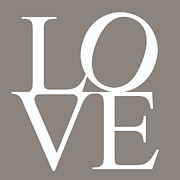 In Love Art Prints - Grey Love Print by Nomad Art And  Design