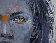 Hair Abstract Art Paintings - Grey by Michael Creese
