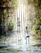Gateway Paintings - Grey Skeleton Gate by Heather Calderon