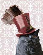 Kelly McLaughlan - Grey Steampunk Cat With...