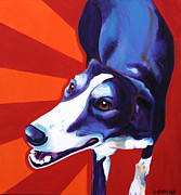 Dawgart Framed Prints - Greyhound - Evie Framed Print by Alicia VanNoy Call