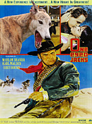 Greyhound Posters - Greyhound Art - One Eyed Jacks Movie Poster Poster by Sandra Sij