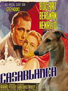 Greyhound Prints - Greyhound Art - Casablanca Movie Poster Print by Sandra Sij