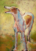 Sight Hound Painting Posters - Greyhound Dog Poster by Carol Jo Smidt