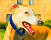 Greyhound Painting Print by Iain McDonald