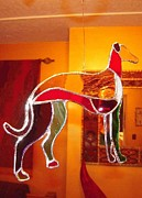 Prairie Dog Glass Art - Greyhound by Rick Caldwell