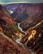 The Grand Canyon Of The Yellowstone Framed Prints - GrGrand Canyon of the Yellowstone Framed Print by Robert Bales