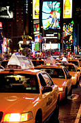 Yellow Taxis Framed Prints - Gridlock Times Square Framed Print by Brian Jannsen