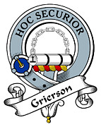Genealogy Prints - Grierson Clan Badge Print by Heraldry