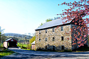 Berks County Prints - Griesemers Mill and Covered Bridge Print by Bill Cannon