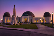 Griffith Metal Prints - Griffith Observatory Metal Print by Eddie Yerkish