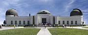 Griffith Digital Art Framed Prints - Griffith Observatory - Panoramic Framed Print by Mike McGlothlen