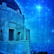 Griffith Park Prints - Griffith Park Observatory at Night Print by Jill Battaglia