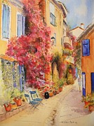 Provence Village Framed Prints - Grimauld village Framed Print by Beatrice Cloake
