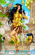 Greek Mixed Media Framed Prints - Grimm Fairy Tales Godstorm 01D Framed Print by Zenescope Entertainment