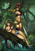 Grimm Mixed Media Framed Prints - Grimm Fairy Tales presents Black Diamond Exclusives Framed Print by Zenescope Entertainment
